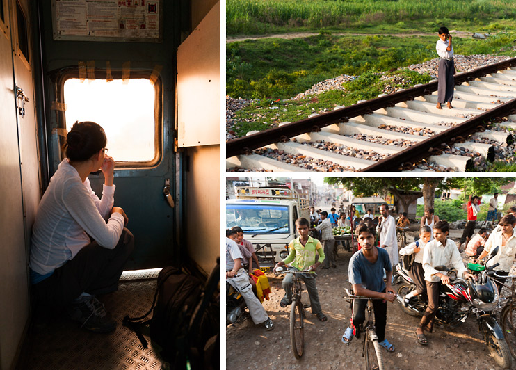 Agra, Crowd, India, Railway Crossing, Sejin, Train Track, Train, Window