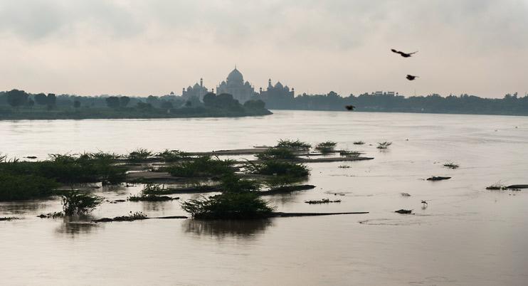 Agra, India, Taj Mahal, Yamuna River