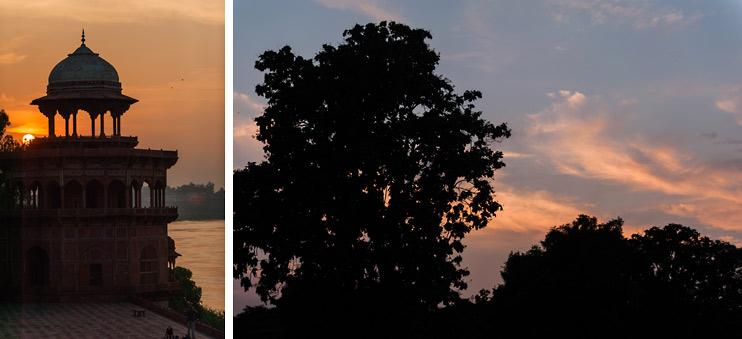 Agra, India, Sunset