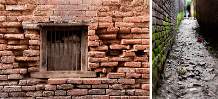 Bhaktapur, Brick, Narrow Alley, Nepal