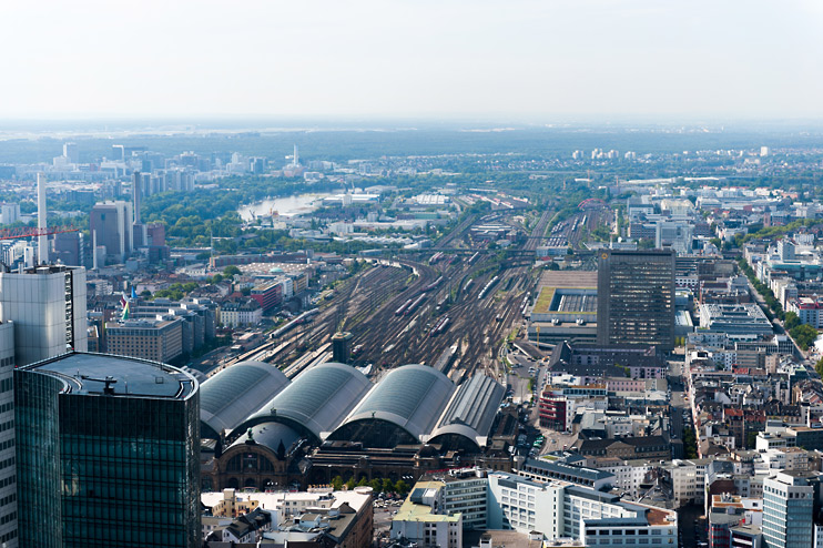 Cityscape, Frankfurt, Frankfurt Hauptbahnhof, Germany, Skyper