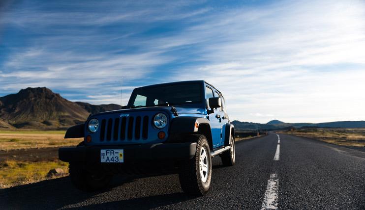 Highway, Iceland, Jeep Wrangler, Reykjavik, Vífilsfell Mountain