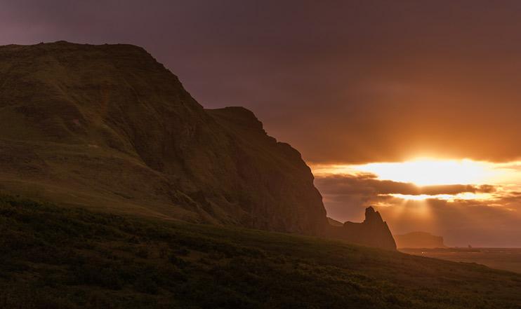 Iceland, Sunrise, Vík