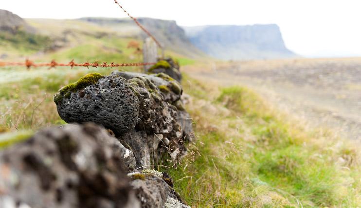 Iceland, Stone Fence