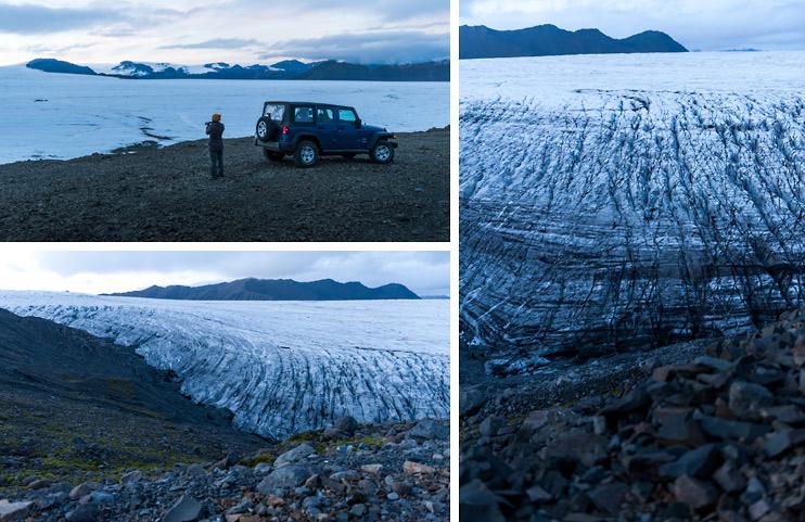 Iceland, Jeep Wrangler, Sejin, Vatnajökull Glacier