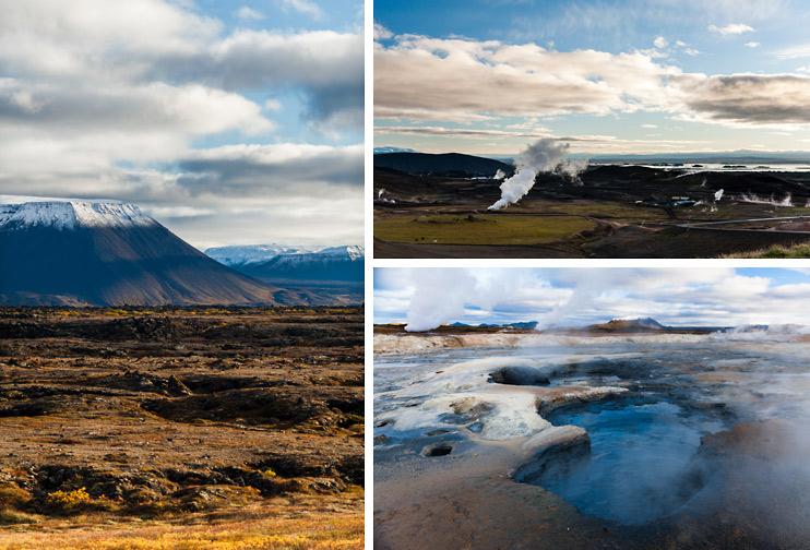 Iceland, Lake Mývatn, Reykjahlíð Town