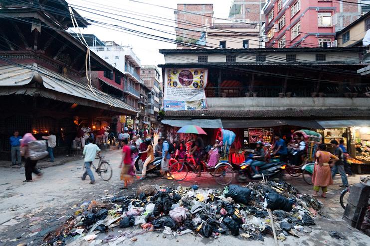 Bicycle, Garbage, Kathmandu, Motorbike, Nepal