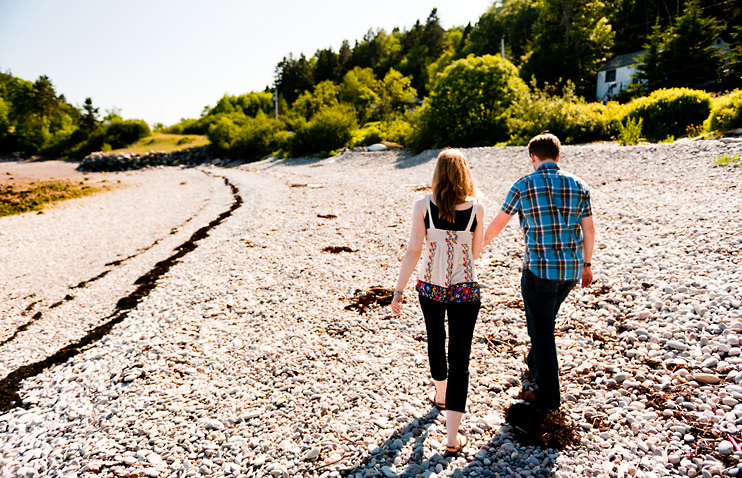 Beach, Chance Harbour, Cranberry Head Road, Engagement, Monique and Graeme, Pebbles