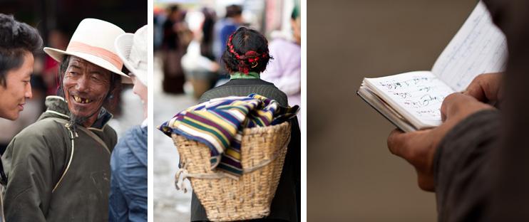 Shigatse Market, Tibetan, Basket, Notebook