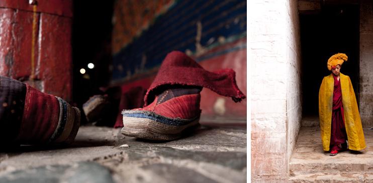 Shigatse, Tashilhunpo Monastery, Monk, Handmade Boots