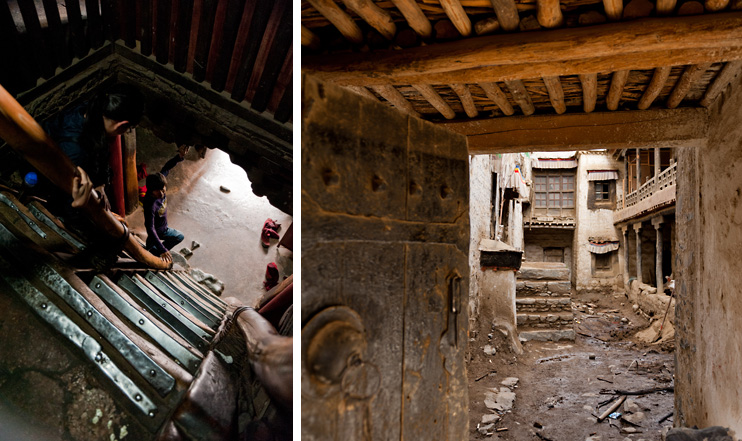 Shigatse, Tashilhunpo Monastery, Steep Steps, Doorway Ruins