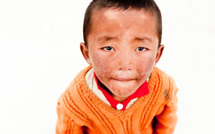 Little boy beggar. Closer, dirtier.