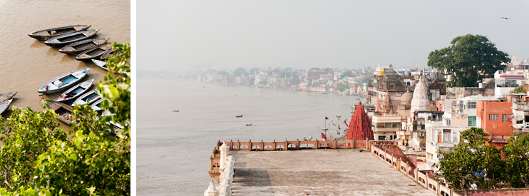 Boats, India, River Ganges, Tree, Varanasi