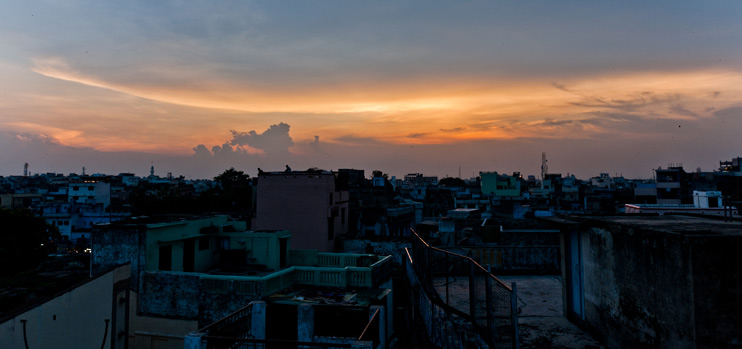 Cloud, India, Skyline, Varanasi