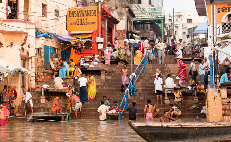 Dasaswamedh Ghat, India, River Ganges, Steps, Varanasi