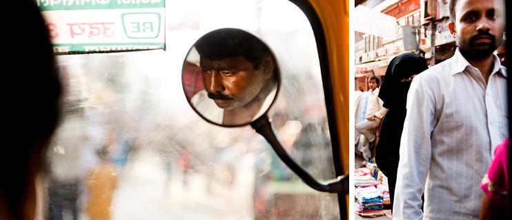 India, Mirror, Rickshaw, Varanasi