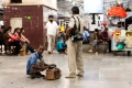 Agra, Agra Cantonment Railway Station, India, Shoe Shine