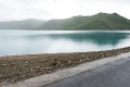 Friendship Highway, Sacred Lake, Sheep, Tibet, Yamdrok Tso