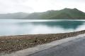 Friendship Highway, Sacred Lake, Sheep, Tibet, Yamdrok Tso