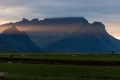 Iceland, Sheep Field, Sunrise