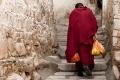 Drepung Monastery, Lhasa, Monk, Steps, Tibet