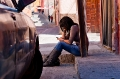 Cell Phone, Girl, Mexico, San Miguel de Allende, Sidewalk, Sitting
