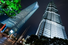 Shanghai, China. Jin Mao Tower and Shanghai World Financial Center.