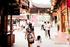 Shanghai, China. Yu Yuan Bazaar.