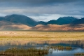 Clouds, Field, Hill, Tibet, Tingri, Water