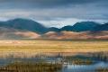 Clouds, Field, Hill, Tibet, Tingri, Water