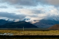 Clouds, Field, Hill, Tibet, Tingri